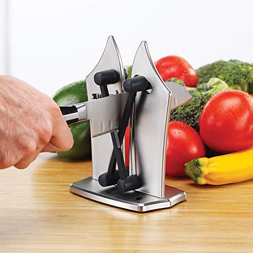 Mediashop Bavarian Edge Messerschärfer – Messerschleifer für alle Messer inklusive Sägemesser – nie Wieder Stumpfe Messer mit dem Messerschärfer Profi aus Wolframkarbid - 4
