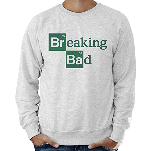 Felpa Leggera Uomo Logo Breaking Bad Serie TV Heisenberg - Grigio