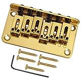 亜鉛合金 6弦ギター サドルブリッジ テールピース エレクトリックギター用 アクセサリー 全3色 - ゴールド, 説明したように