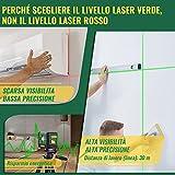 Immagine 1 livella laser verde 30m popoman