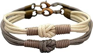 Love Knot Couple Bracelet Long Distance Bracelet Set,Her His Bracelet, Matching Bracelets, Couples Gift