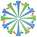 ZITFRI 12PCS Irrigazioni a Goccia Dosatore Acqua per Piante Innaffiatore Automatico per Vasi Acqua Piante Vacanze Sistema Irrigazione Balcone Irrigatori a Goccia per Vasi Plant Water Funnel