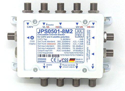 Jultec JPS 0501-8M2 Multischalter Einkabelmultischalter Unicable