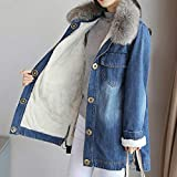 Zoom IMG-2 frauit giacche jeans donna lunghe