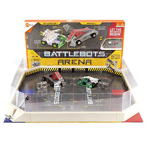 HEXBUG BattleBots Arena Bronco & Witch Doctor - Battle Bot with Game Board and Accessories - Remote Controlled Toy for Kids - Batteries Included with Hex Bug Robot Playset
