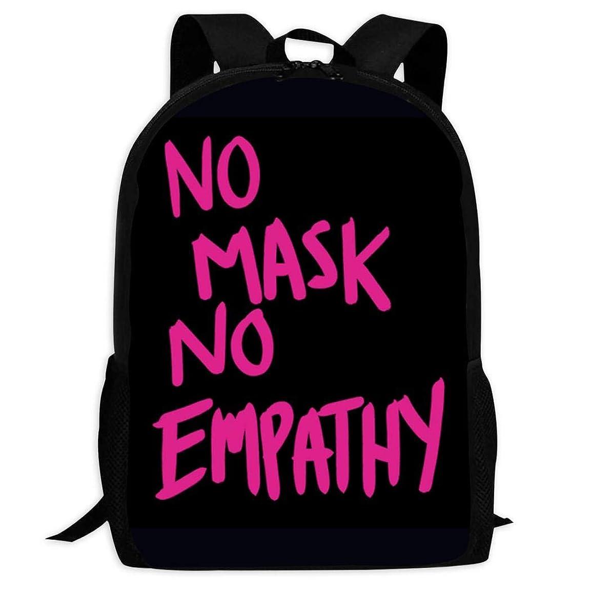 プール知らせる折り目3D No Mask No Empathy スクールバッグボトルサイドポケット付きの子供のバックパックの軽量ファッションの女の子