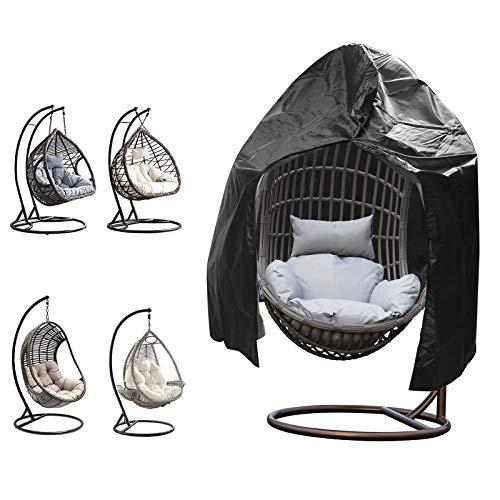 Haokaini Cubierta para silla colgante de jardín con columpio para silla al aire libre, resistente al desgaste, cubierta para muebles de huevo, cubierta impermeable para muebles de jardín y patio