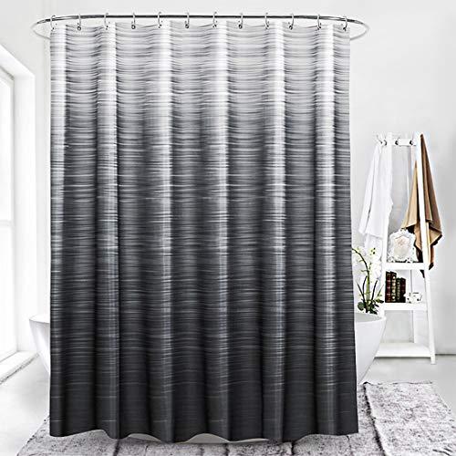 Xlabor Farbverlauf Duschvorhang 240x200cm Wasserdicht Anti-Schimmel Stoff für Badezimmer dunkelgrau 240x200cm