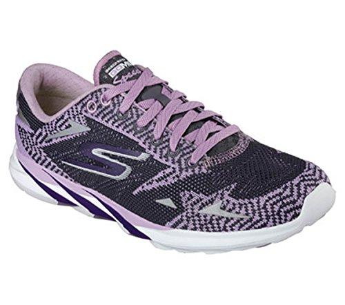 Skechers Performance Women's Go MEB Speed 3 2016 Running Shoe (8, Purple/Charcoal)