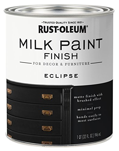 Rust-Oleum 331052 Milk Paint Finish, Quart, Eclipse