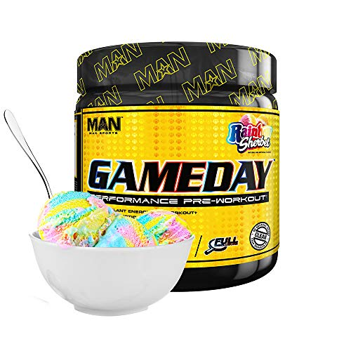 MAN Sports Game Day 30 Servings Rainbow Sherbet, 510 g