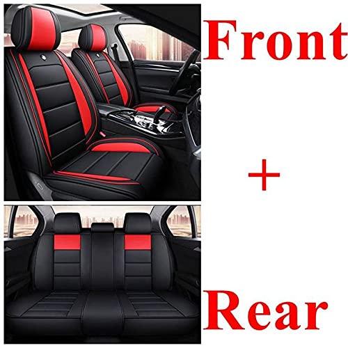Fundas Asientos Coche Universales para Renault Clio Duster Clio 4 Seat Leon Ibiza Mitsubishi Lancer X Pajero Outlander Lancer Subaru Forester Accesorios Coche, Estándar Rojo Negro
