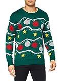 NIZZIN Unisexo Anemoon, suéter Hombre, Verde (Green), Medium