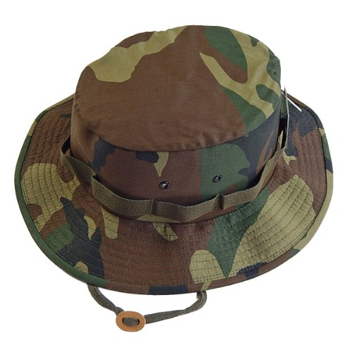 Woodland Camouflage Military Jungle Hat (Polyester/Cotton) 5547 Size 2XL Regular