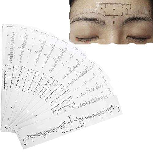 100 Sets/Set of Disposable Eyebrow Ruler, Eyebrow Drawing Stencil Makeup Tool, Tattoo Makeup Kit, Permanent Creation of Stylish Eyebrows, The Best Choice for Women