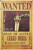 海賊アニメCEKKO MORIA さびた錫のサインヴィンテージアルミニウムプラークアートポスター装飾面白い鉄の絵の個性安全標識警告バースクールカフェガレージの寝室に適しています