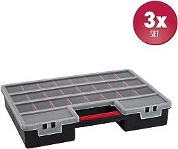 SOMELINE Schmuckkasten Sortierboxen Sortimentskasten mit Anpassbaren F/ächern Sortimentsbox mit Griff f/ür Schrauben N/ägel Hardware-Teile Doppelschicht Sortierkasten 59 F/ächern Orange