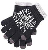 AGLT Männer Winter Warm halten Handschuhe,Draussen Sport,Touchscreen Fäustlinge Voller Finger Hohe elastizität,C