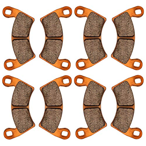 Zinger Brake Pads for Polaris RZR XP 1000 EPS 2020 2019 2018 2017 2016 2015 2014,4 Set Front and Rear Replacement Brake Pads