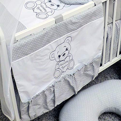Organiseur de lit bébé bébé 60x60 cm - Ours gris