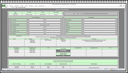 Wartungsplaner Wartungssoftware Wartungsplan zur dokumentation von Wartungsarbeiten im Prüfbuch