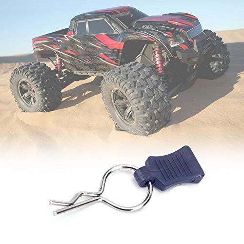 RC Karosserie Shell Clip + Befestigungswinkel Set, Secure Shell Pin, Aluminiumlegierung Zubehör Autoteile Passend für Traxxas 1/5 1/8 (Dunkblau)