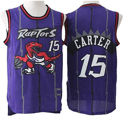 Oxyco Camiseta De Baloncesto para Hombre, Vince Carter # 15 Toronto Raptors Jerseys Retro Swingman Sportswear Camiseta Unisex Sin Mangas (Morado, M)