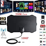 Leoie 1080P 200 Mile Range Antenna TV Digital HD Skywire 4K Antena Digital