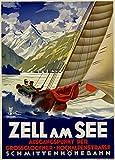 Poster, Motiv: Segel- & Yachting bei Zell am See, Österreich, c1935, 250 g/m², glänzend, A3, Reproduktion