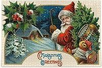クリスマスサンタクロースジグソーパズル冬の赤いベリークリスマスツリー500ピースパズル子供のための教育的な知的減圧楽しいゲーム大人の家の壁の装飾