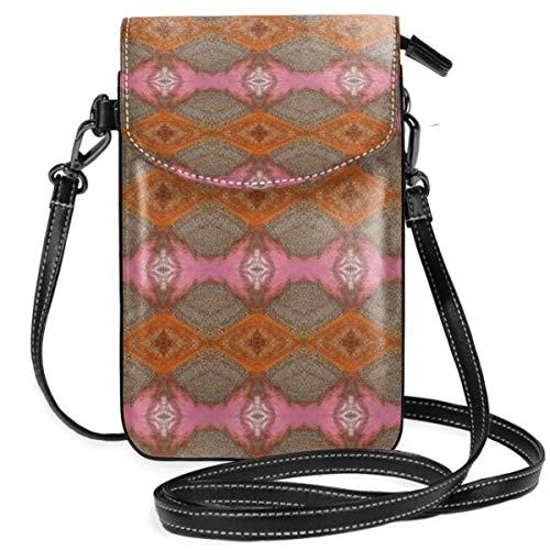 LEPO'S Handy-Umhängetasche Tasche Handtasche Rostrosa Kelim Crossbody Smartphone Geldbörse