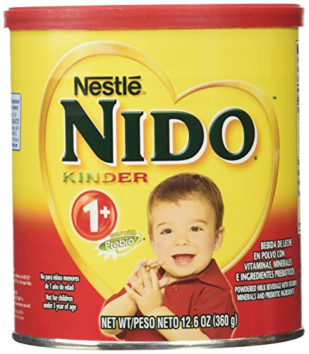 Nido Nestle Kinder 1+ Whole Milk Powder 12.6 Ounce . Canister Powdered Milk Mix, 12.6 Ounce