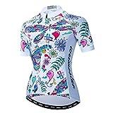 Maillot de ciclismo para mujer con cremallera completa MTB Tops Mountain Road ropa transpirable ciclismo Racing Camisetas para mujer ciclismo ropa de verano blanca talla L