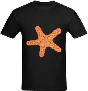 Neryaing Men's Sea Starfish Brittle Stars Printable T-Shirt
