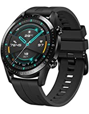Huawei 55024316 Watch GT 2 Smartwatch, Maat: 46 mm, met Hartslagmeting, Muziek Afspelen & Bluetooth Telefonie, 5ATM Waterdicht, Mat Zwart