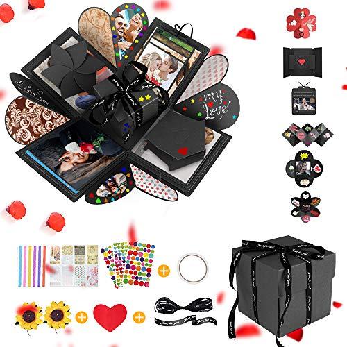 Gohytal Caja de Regalo, Caja Regalo Sorpresa Creative Explosion Box DIY Álbum de Fotos Hecho a Mano Scrapbooking Para Cumpleaños, Boda, San Valentín, Aniversario, Regalo Novio, Novia