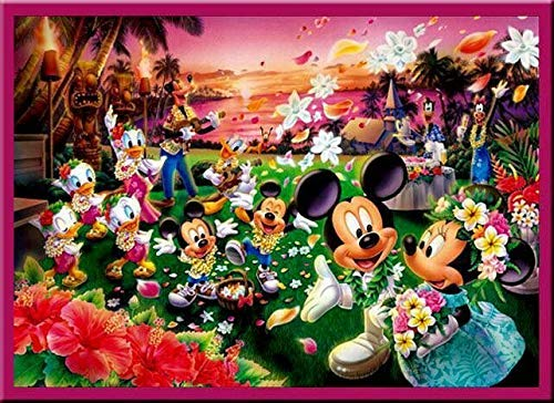 olwonow 1000 Rompecabezas 75x50cm Feliz Mickey Mouse Juguete Educativo Regalo
