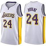 CHYSJ Uniforme de Baloncesto # 24 Kobe, Uniforme de Baloncesto Lakers, Versión de la Ciudad Juvenil de la Camiseta de Swingman M