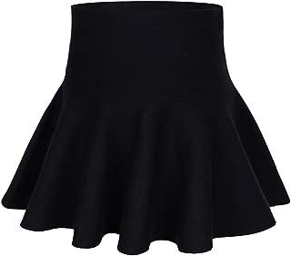storeofbaby Little Big Girls High Waist Knitted Flared Pleated Skater Skirt Casual