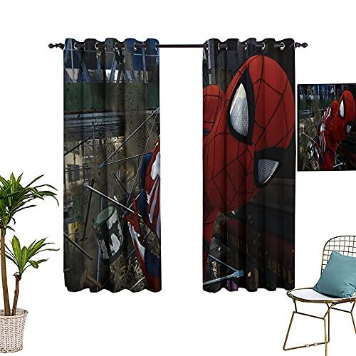 Rideaux occultants à barre perforée Les Avengers, Spider_man, utilisés dans le salon, la chambre à coucher, 182,9 x 243,8 cm