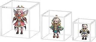 FEMELIコレクションケース フィギュアケース ディスプレイケース アクリルケース 陳列ケース 人形ケース 透明アクリル プラモデル 飾り用 展示用 透明 四角(底を開く)