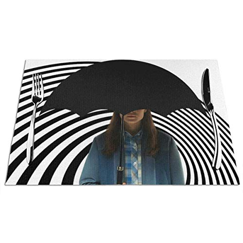 maichengxuan The Umbrella Academy 2 manteles individuales de PVC para cocina, comedor, boda, fiesta, resistente al calor, impermeable, 1 unidad
