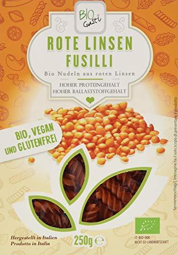 Bio Gusti Fusilli Rote Linsen (1 x 250 g)