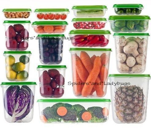 Ikea Set 17st Voedsel Savers met Deksels BPA Gratis Plastic Containers Picknick Party Vriezer Magnetron Vaatwasser Safe Keuken Opbergdoos Set Pruta, Tuin, Gazon, Onderhoud
