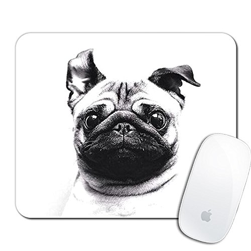 Royal Up Pug Custom Mouse Pad Gaming Mat Keyboard Pad Waterproof Material Non-slip Personalized Rectangle Mouse pad (9.4x7.8x0.08Inch)