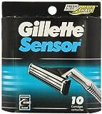 10 Lames Gillette Lames de rasoir Sensor