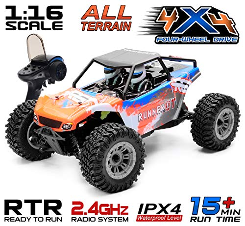 RGT RC Car 1:16 Scale Desert RC Truck 4wd Rock Crawler Solid Rear Axle Off Road Vehicle Toys