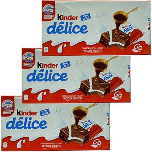 3x Ferrero Kinder 'Delice' Küchlein mit schokolade und milch, 10 x 42 g