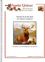 Scarlet Quince LAN001 Monarch of the Glen by Sir Edwin Landseer Counted Cross Stitch Chart, Regular Size Symbols