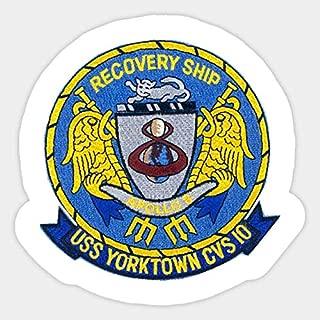 USS Yorktown CVS-10 - Sticker Graphic - Car Vinyl Sticker Decal Bumper Sticker for Auto Cars Trucks